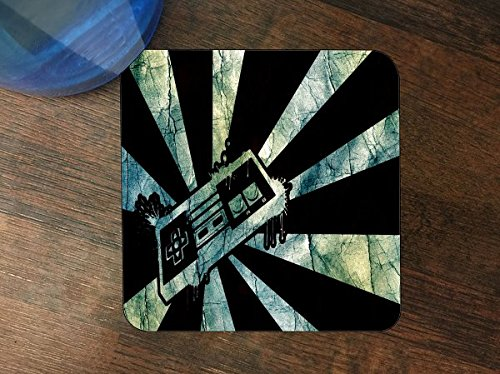 Retro Gamer Silicone Drink Beverage Coaster 4 Pack by Demon Decal