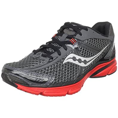 Saucony Men's ProGrid Mirage Running Shoe,Grey/Black/Red,8 M US