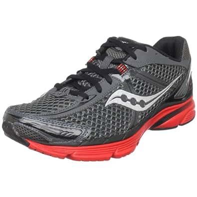 Saucony Men's ProGrid Mirage Running Shoe,Grey/Black/Red,8 M US