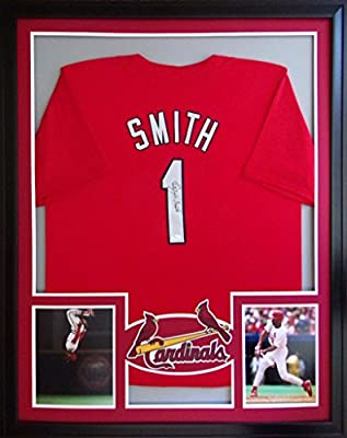 Ozzie Smith Framed Jersey Signed JSA COA Autographed St. Louis Cardinals
