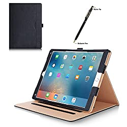 iPad Pro 9.7 Case - ProCase Leather Stand Folio Case Cover for Apple iPad Pro 9.7 Inch Case 2016, with Multiple Viewing Angles, Document Card Pocket (Black)