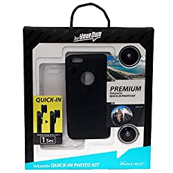 hvYourOwn Premium GoLensOn QUICK-IN-PHOTO KIT with with 2 lens for iphone 6/6s (Black)