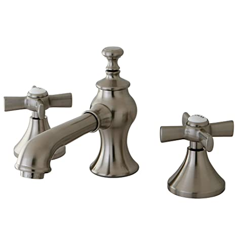 KINGSTON BRASS KS7068ZX Millennium Widespread Lavatory Faucet with Brass Pop-Up, Satin Nickel