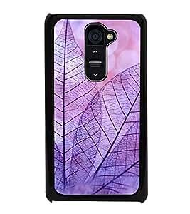 Purple Leaves 2D Hard Polycarbonate Designer Back Case Cover for LG G2 :: LG G2 D800 D802 D801 D802TA D803 VS980 LS980