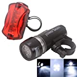 Search : HDE Waterproof 5 LED Bike Head Light & Rear Flashlight