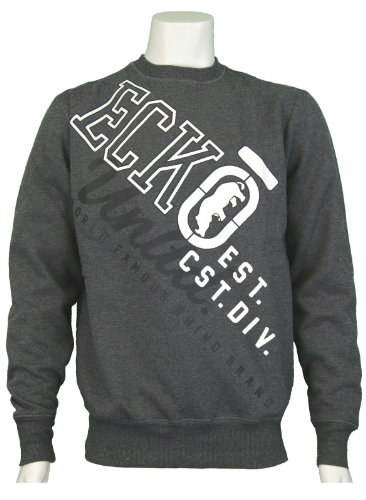 Men's Ecko Untld 'Continental' Crew Neck Sweatshirt. Colour - Charcoal Marl. Size - XLarge.