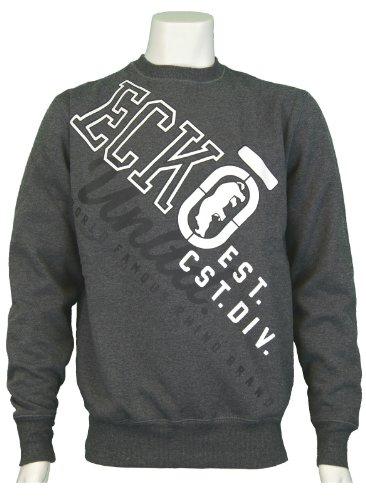 Men's Ecko Untld 'Continental' Crew Neck Sweatshirt. Colour - Charcoal Marl. Size - XLarge.