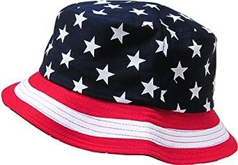 KBETHOS American Flag Bucket Hat - NAVY