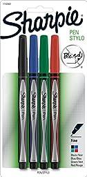 Sharpie Pen Fine Point Pen, 4 Colored Pens (1742662)