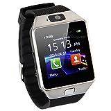 Zomtop DZ09 Bluetooth montre Smart Watch Wristwatch avec caméra Sync pour Android IOS Smart Phone Samsung S5   Note 2 3 4, nexus 6, htc, sony, huawei et autres Smartphone Android (Silver)