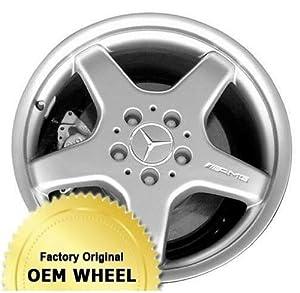 MERCEDES S-CLASS 18X8.5 5 SPOKE Factory Oem Wheel Rim- MACHINE LIP SILVER – Remanufactured