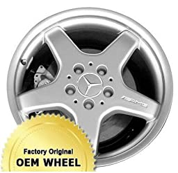 MERCEDES S-CLASS 18X8.5 5 SPOKE Factory Oem Wheel Rim- MACHINE LIP SILVER – Remanufactured