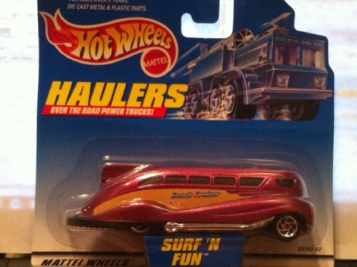 Hot Wheels Haulers Burgandy Surf N Fun Over the Road Power Trucks 2000