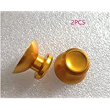 2PCS Chrome Plating Analog Thumb Stick Set For Microsoft Xbox 360 Controller Color Gold