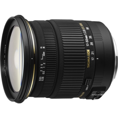 Sigma 17-50mm f2.8 EX DC HSM Optical Stabilised lens for Canon Digital SLR Cameras with APS-C Sensors