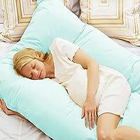 GZYF Today's Mom Cozy Comfort Pregnancy Pillow Maternity Belly Contoured Body U Shape Extra Comfort Cuddler BLUE by GZYF