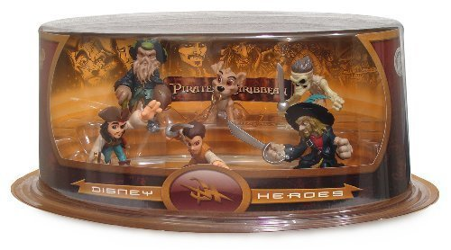 Picture of Disney Pirates of the Caribbean - Disney Heroes Series #4 Mini-Figure Set (Disney Theme Parks Exclusive) (B002O24MD8) (Disney Action Figures)