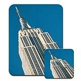 Empire State Building New York City Premium Mousematt & Coaster Set
