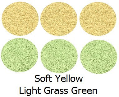 "Set 6 Children'S Crazy Carpet Circle Seats - Light Grass Green & Soft Yellow 18"" Round Rug Mat front-997248"