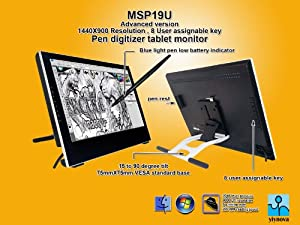 Yiynova MSP19U+ Tablet Monitor,VESA Stand(Mac & Windows Solution)
