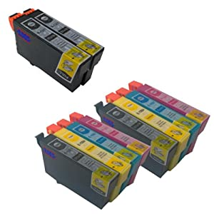 Multipack Epson Compatible Ink Cartridges x 2 + 2 X EXTRA BLACKS *** for Epson SX425W - ALSO COMPATIBLE WITH Printers Epson Stylus Office BX305F, BX305FW, BX305FW Plus, Epson Stylus S22, SX125, SX130, SX235W, SX420W, SX425W, SX435W, SX445W - Latest Version Double Capacity Inks - replaces T1281 T1282 T1283 T1284 (T1285) (Replaces 4 X : T1281 2 X T1282 T1283 T1284) - Cyan / Magenta / Yellow / Black - Multipack