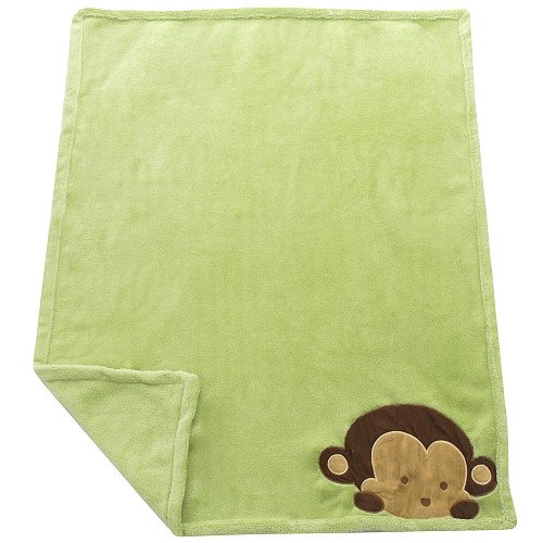 Mod Pod Pop Monkey Blanket Kids Line front-1053405