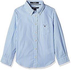 Gant Boys' Shirt (GBSEF0003_Capri Blue_XS)