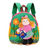 Handmade Cotton Baby Bag 3D Cartoons Girl Watering Backpack