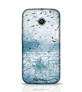 Style baby Ground Cracked Birds In The Sky Moto E (1st Gen) Phone Case