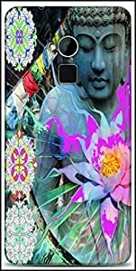 Snoogg Buddha Stands For Peace Designer Protective Back Case Cover For HTC One-Max
