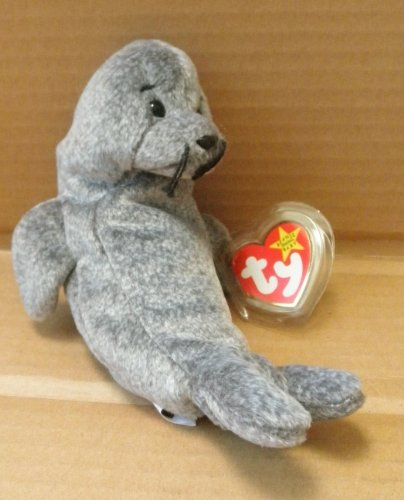 TY Beanie Babies Slippery the Seal Stuffed Animal Plush Toy - 7 inches tall - 1