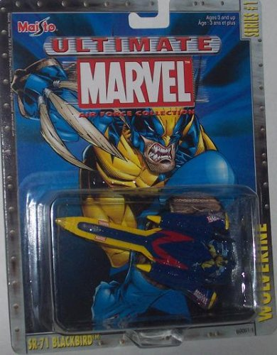 Maisto Ultimate Marvel Air Force Wolverine SR-71 Blackbird Diecast X-Men Plane - 1