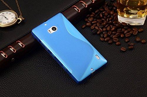 Bleu-S-Line-Wave-Coque-arrire-souple-en-gel-TPU-Coque-pour-Nokia-Lumia-929