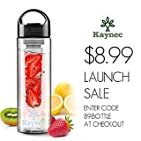 Fruit Infuser Water Bottle By Kaynec (Black)