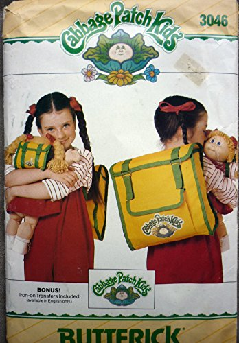 Butterick 3046 Cabbage Patch Kids Backpack, Child'S Backpack Sewing Pattern, Vintage front-457836
