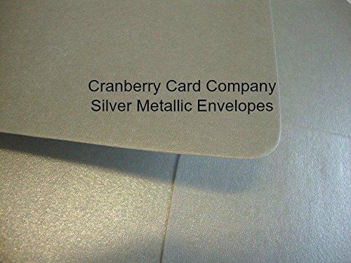 cranberry-card-company-sobres-c5-a5-color-plateado-metalico-de-alta-calidad-color-plata