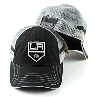 Los Angeles Kings NHL Foundry Grey Soft Mesh Back Adjustable Snapback Hat