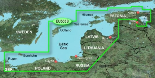 GARMIN BLUECHART G2 HXEU505S BALTIC SEA EAST COAST