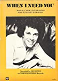 img - for When I Need You (Recorded by LEO SAYER on WARNER/REPRISE Records) book / textbook / text book
