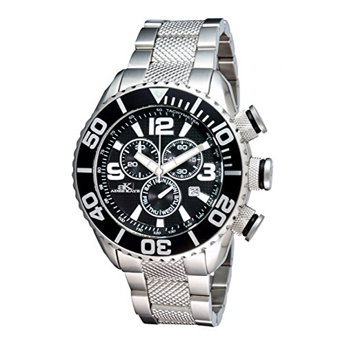 Adee Kaye #AK5434-M Men's Stainless Steel Sports Chronograph Watch
