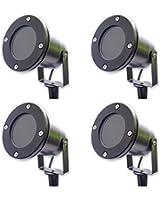 4 x Spots - Éclairage extérieur à piquer - Lampe de jardin en borne - pour Spot GU10 IP65 Noir mat