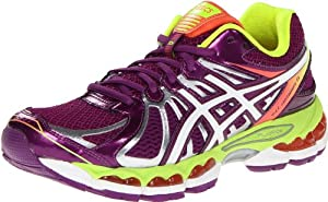 ASICS Women's GEL-Nimbus 15 Running Shoe,Wine/White/Flash Yellow,9 M US