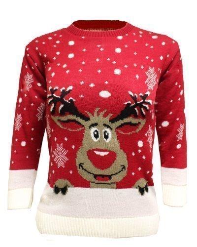 Generazione Fashion Unisex bambino bambina edbsf pull over maglione natalizio con fiocchi di neve Olaf da corsa animali Top dimensioni