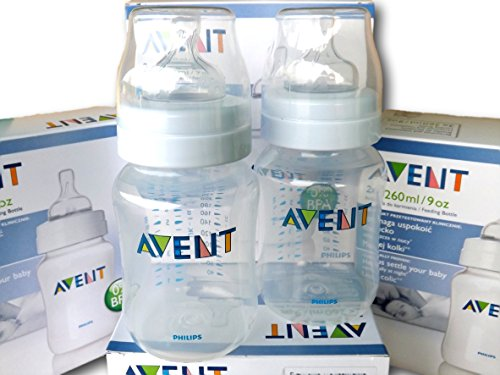 2-x-260ml-Philips-Avent-naturnahe-Flasche-SCF68327-Anti-Kolik-System