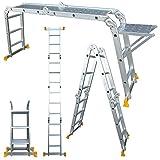 Abbey Aluminium Multi-Purpose Ladder 3.7m With New Safety Platform