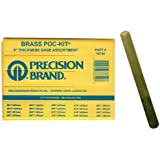 "Precision Brand 76740  Brass Thickness Feeler Gage Poc-Kit Assortment, 1/2"" Width, 5"" Length, 20 Blades"