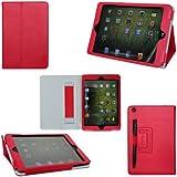 ProCase iPad mini Case - Flip Stand Folio Cover for Apple iPad mini 7.9-Inch Tablet auto sleep /wake feature, hand strap (Red)