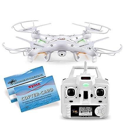 SYMA X5C Quadrocopter Drohne Weiß 2,4Ghz mit HD Kamera 3D + Ersatzakku