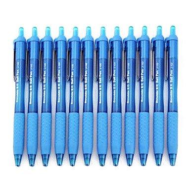 Zaki Fast Roller Ball Light Blue Ink Ball Point Pen (Turquoise,12-Pack)
