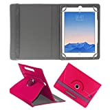 ACM ROTATING 360° LEATHER FLIP CASE FOR APPLE IPAD AIR 2 TABLET STAND COVER HOLDER DARK PINK